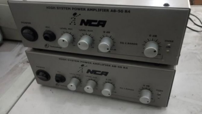 Foto - 05 Amplificadores de Som NCA AB 50 R4 - [1]